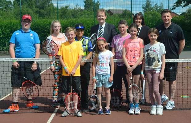 Matthew Ellis at a Space tennis session