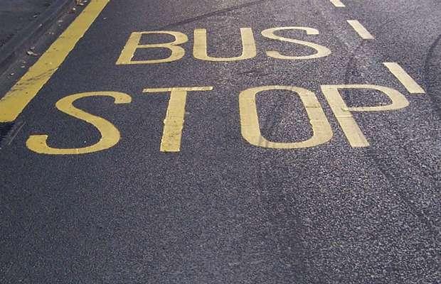 Bus stop markings