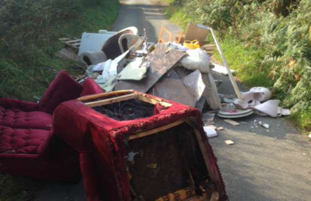 One of the incidents of fly-tipping in recent months
