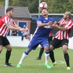 Ryan Wynter keeps his eye on the ball under pressure. Pic: Dave Birt