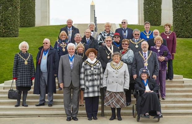 Civic leaders at the National Memorial Arboretum