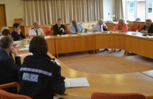 Matthew Ellis talking to the new Lichfield Safer Neighbourhood Panel