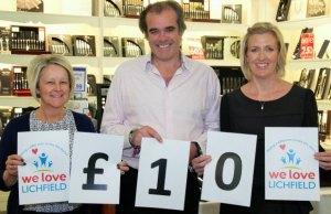 Maria Dutton, Simon Price and Caroline Pittaway in the Arthur Price Lichfield shop