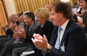 Politicians and business leaders at the Drayton Manor summit