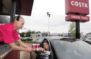 One of Costa's current drive-thru coffee shops