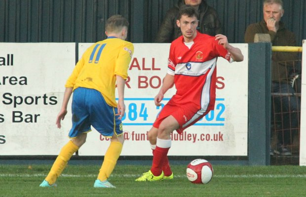 George Washbourne looks to set off a Chasetown attack. Pic: Dave Birt