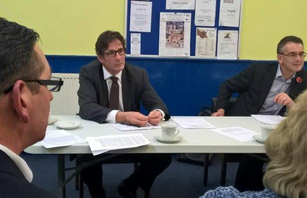 Lord Fox talking at the Lib Dem meeting