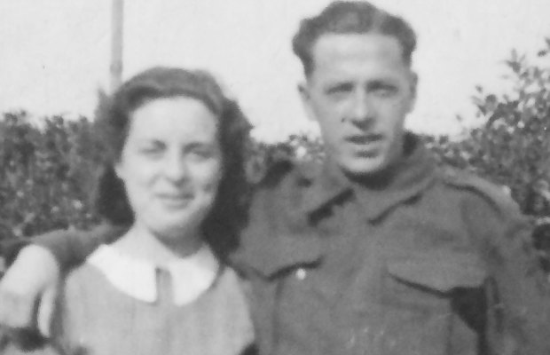 George and Doris Stych in one of the pictures submitted to the art project