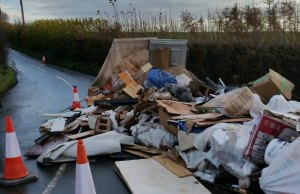 The rubbish dumped on Forge Lane