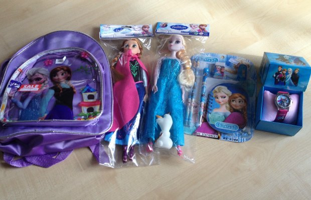 Some of the fake Frozen items seized