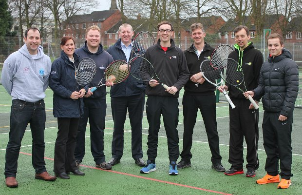 The launch of the free tennis lessons in Beacon Park