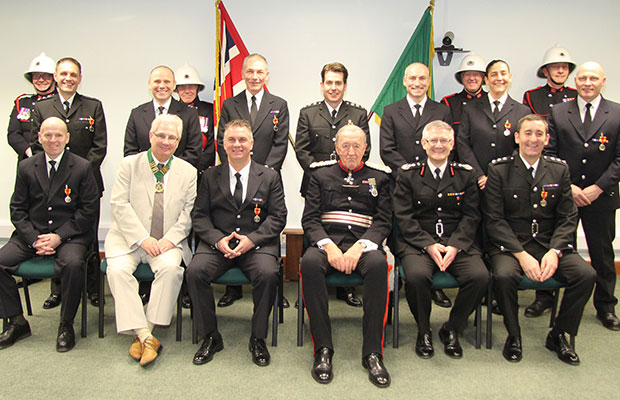 The Staffordshire Fire and Rescue Service long service awards ceremony