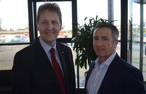 Police and Crime Commissioner Matthew Ellis and Des Morrison