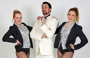Herod (Dan Anketell) with two of Herod's dancers, Katie Murphy and Jessica Lambert