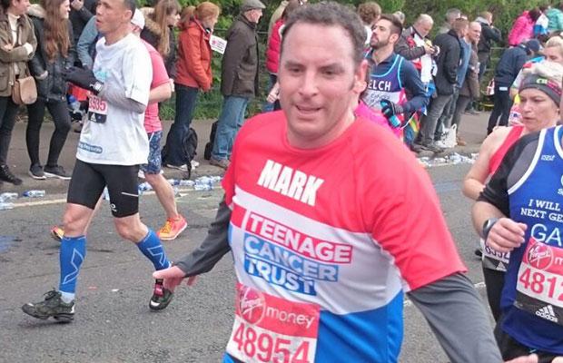Mark Tweddle running the London Marathon