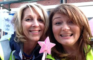Natalie Ellis with her cousin Jo Holman taking part in a previous Solstice Walk