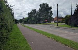 The Burton Road through Streethay