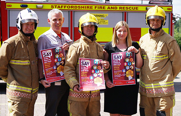 The launch of Staffordshire Fire and Rescue Service's Corporate Safety Plan consultation