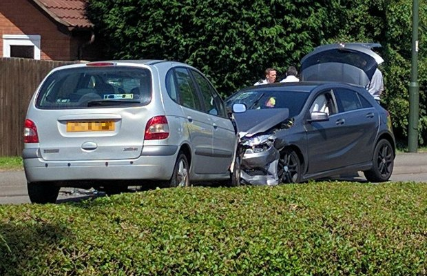 The cars involved in the Streethay crash
