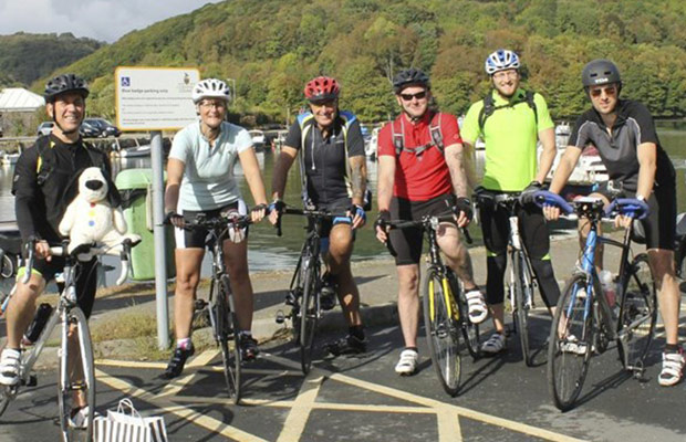 Some of the cyclists during their previous fundraising ride
