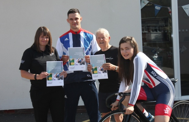 Sarah Sleight, Sports Development Officer at Lichfield District Council, James Austin, Haydn Harries and Sophie Capewell