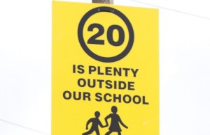 A 20 is Plenty sign