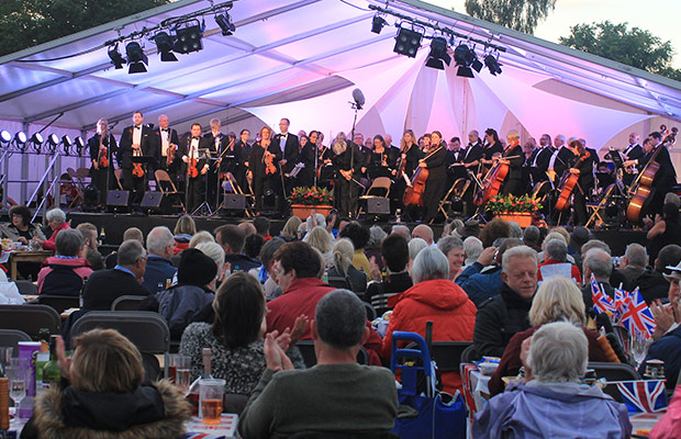 The British Police Symphony Orchestra perform at the Lichfield Proms in Beacon Park