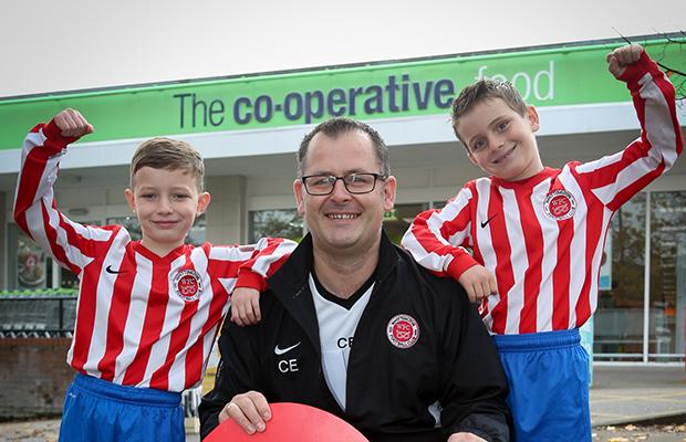 Whittington Blades celebrate their £800 donation