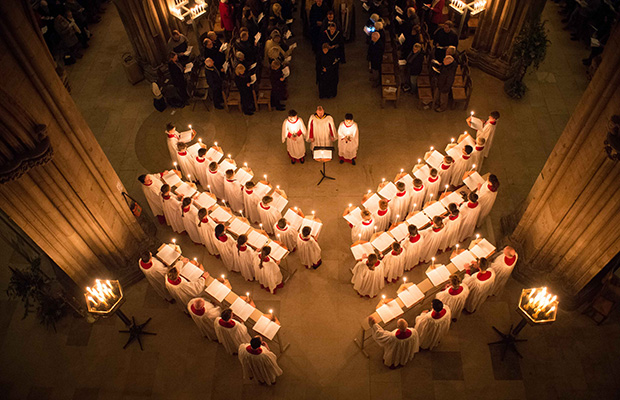 The Advent carol service at Lichfield Cathedral