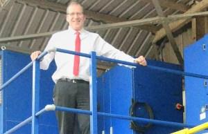 Brett Barratt in the Warrior Doors factory