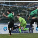 James Curley gives Leek Town the lead. Pic: Dave Birt