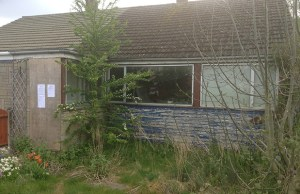 The derelict bungalow on Chase Road before the refurbishment