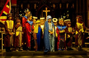 The cast of the nativity at Lichfield Cathedral