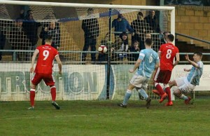 Jack Langston scores for Chasetown. Pic: Dave Birt