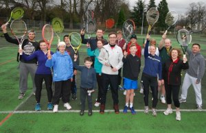 Tennis players in Beacon Park