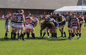 Leicester Tigers in action at Cooke Fields