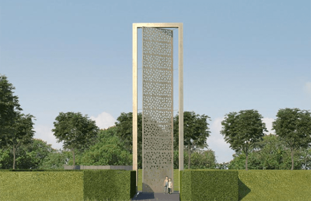 An artist's impression of the new UK Police Memorial