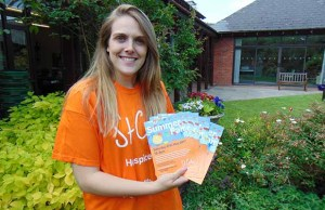Zoe Westwood from St Giles Hospice getting ready for the summer fair