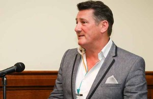 Tony Hadley at the House of Commons preview event. Pic: Peter Blanchflower