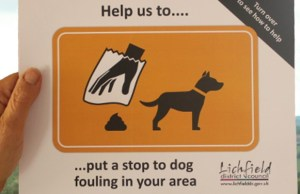 The new cards designed to identify dog poo hotspots
