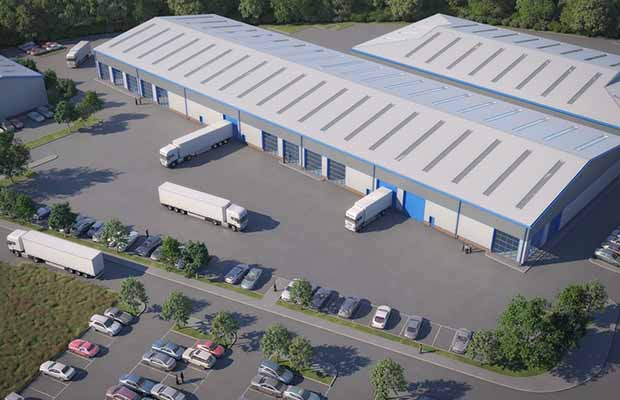 An artist's impression of the new industrial unit in Burntwood. Pic: LCP