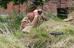 The Home Guard keeping watch at the Staffordshire Regiment Museum