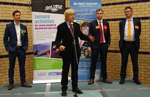 Michael Fabricant makes his victory speech