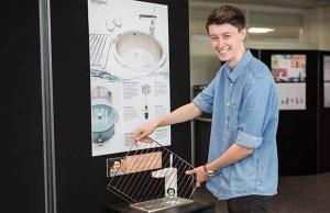 Matt Fryer with his Ultrasinc design