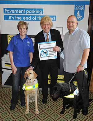 Michael Fabricant MP at the Guide Dogs event in the House of Commons