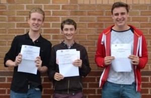 Lewis Byrne, Andrew Bradley and Jake Bamford
