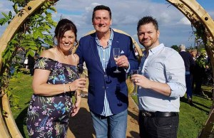 Tony Hadley with Violet Mornington's parents Kerry and Ivan
