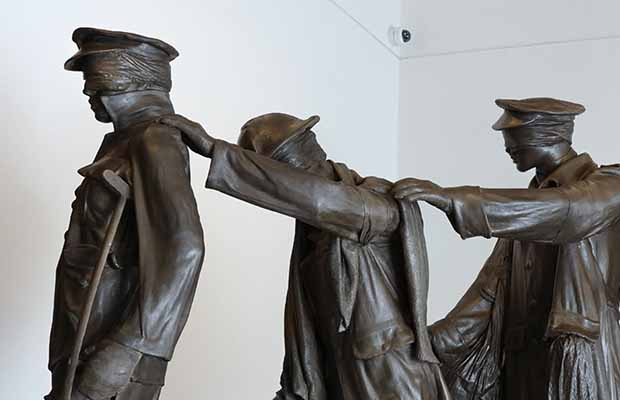 The Victory over Blindness sculpture