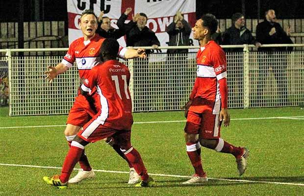 Will Wheildon celebrates his goal. Pic: Dave Birt