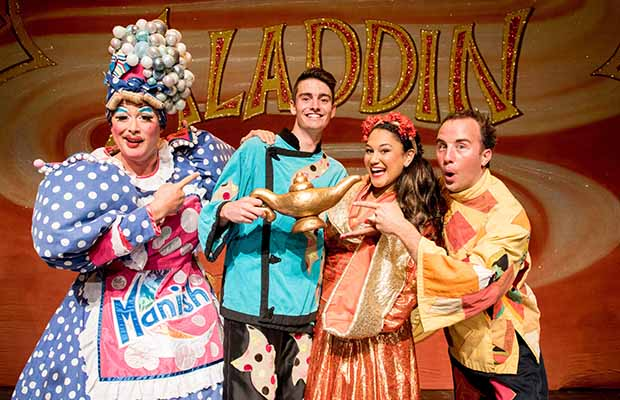 Some of the Aladdin cast members at the official launch